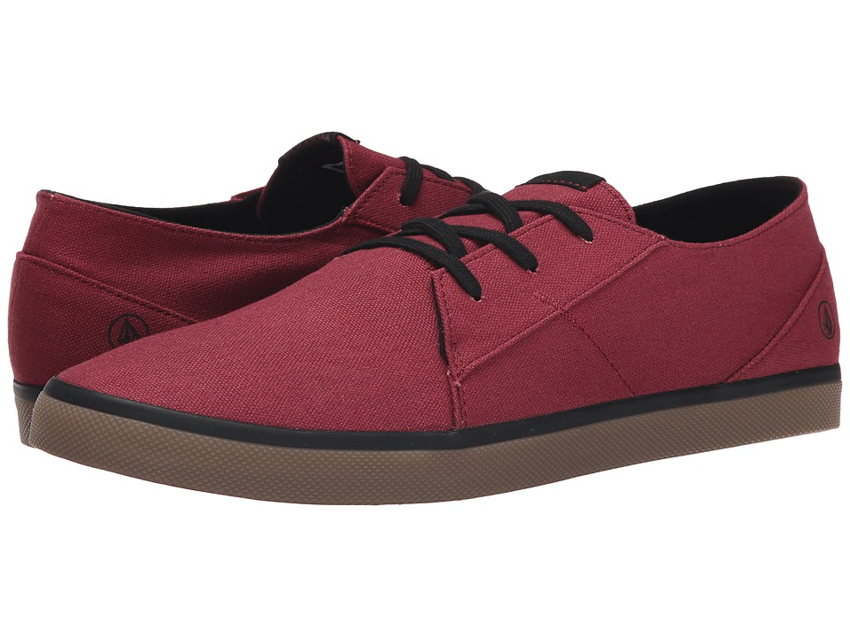 Volcom - Lo Fi 2 (Burgundy) Men's Lace up casual Shoes