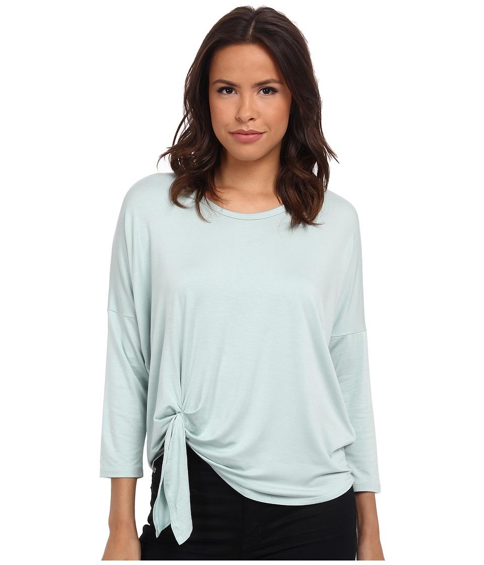 Karen Kane - 3/4 Sleeve Tie Front Top (Mint) Women's Clothing