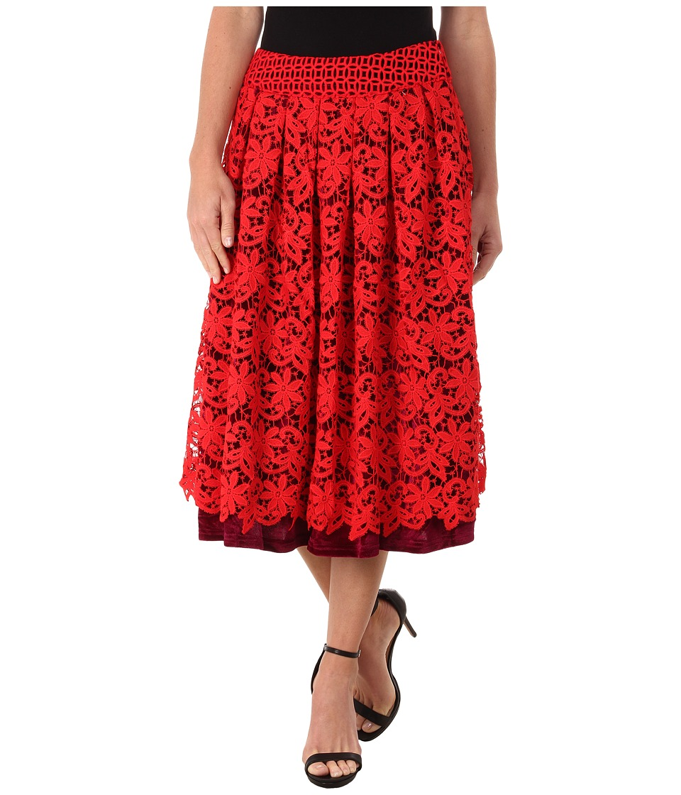 KAS New York - Asilah Skirt (Red/Black) Women's Skirt