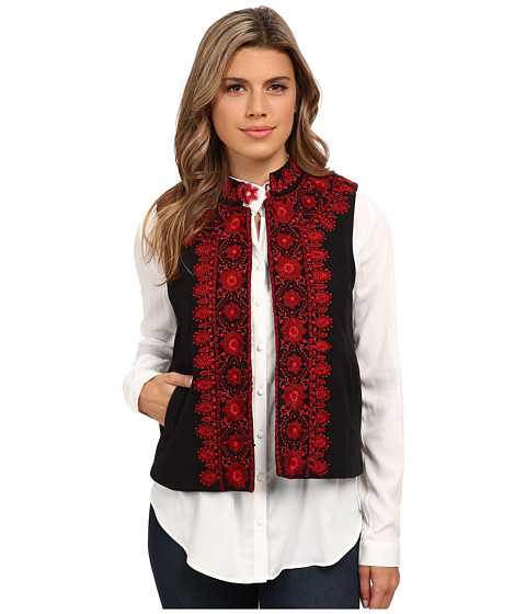 KAS New York - Kyna Vest (Black/Red) Women