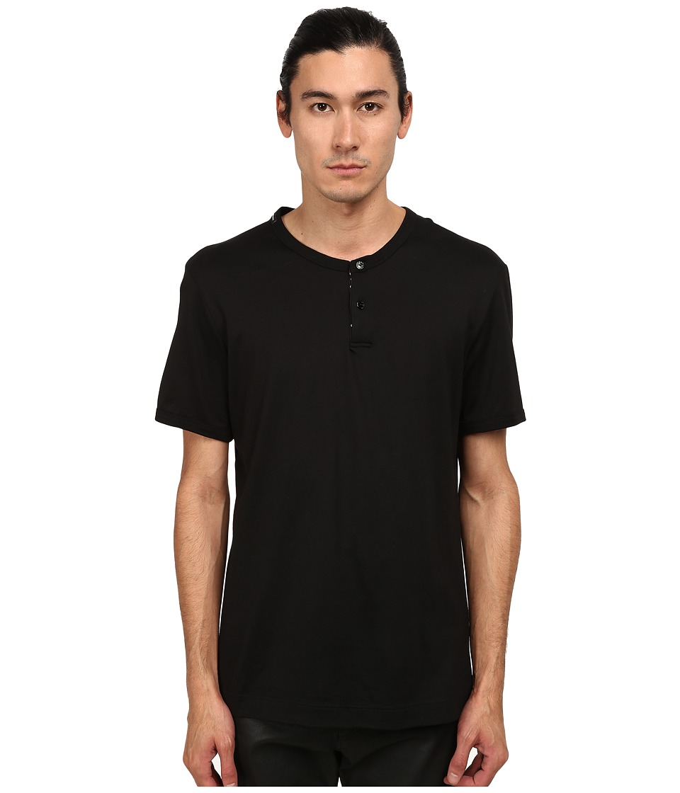 Dolce & Gabbana - Polka Dot T-Shirt w/ Buttons (Black) Men's T Shirt