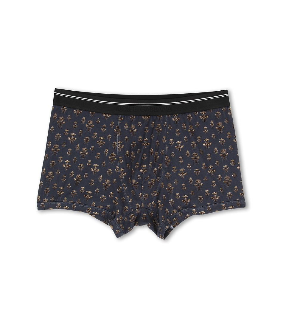Dolce & Gabbana - Bees and Crowns Regualar Boxer (Blue) Men