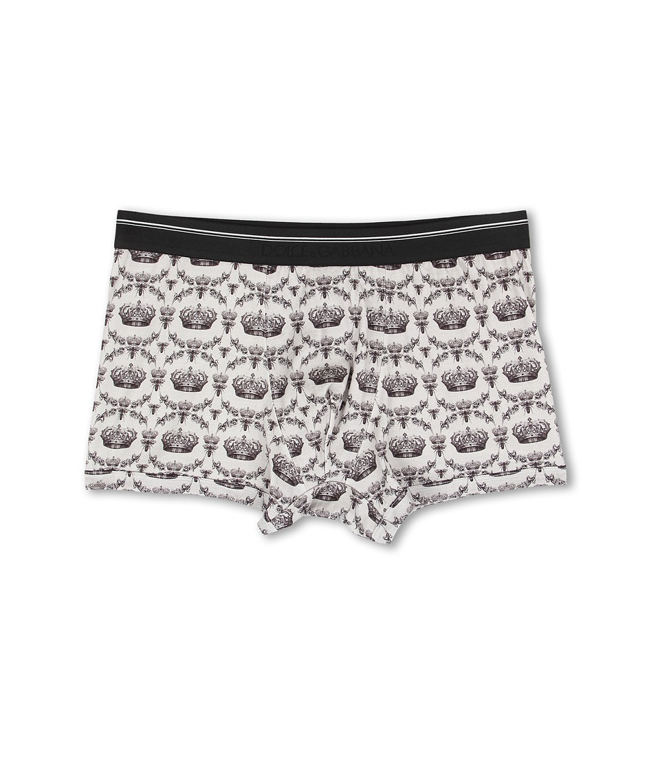 Dolce & Gabbana - Bees and Crowns Regualar Boxer (Grey) Men's Underwear