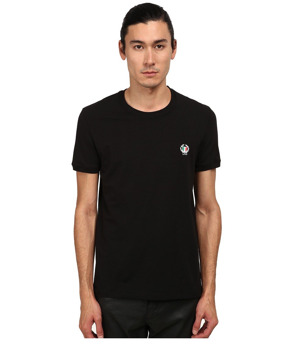 Dolce & Gabbana - Sport Crest T-Shirt (Black) Men's T Shirt