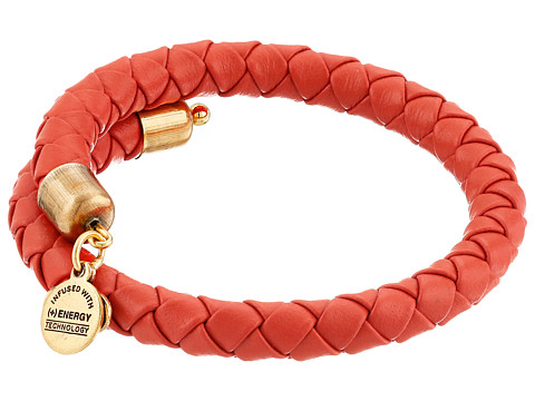Alex and Ani - Braided Leather Wrap Bracelet (Sun Blaze) Bracelet
