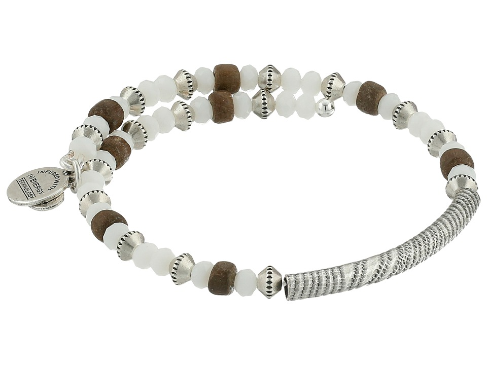 Alex and Ani - Uncharted Voyage Beaded Wrap Bangle (White Water) Bracelet