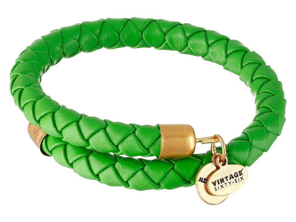 Alex and Ani - Braided Leather Wrap Bracelet (Palm Green) Bracelet