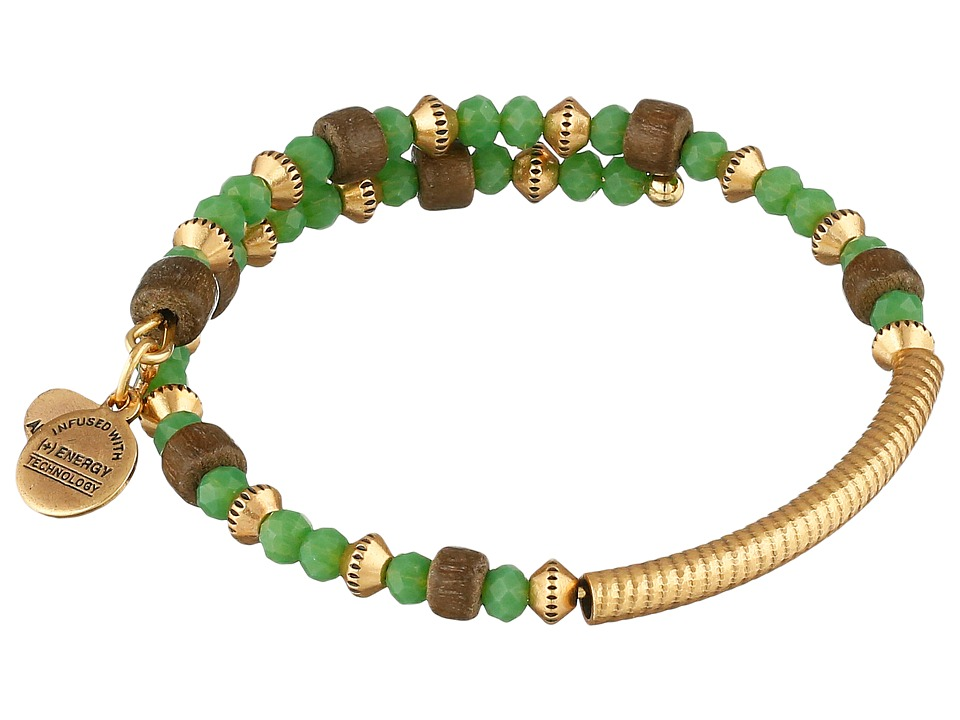 Alex and Ani - Uncharted Voyage Beaded Wrap Bangle (Kelp) Bracelet