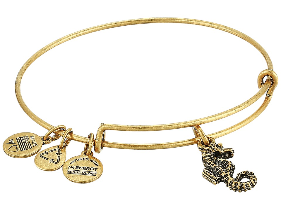 Alex and Ani - Seahorse Charm Bangle (Rafaelian Gold Finish) Bracelet