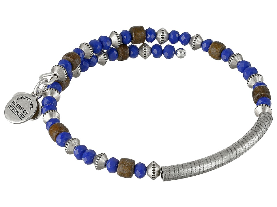 Alex and Ani - Uncharted Voyage Beaded Wrap Bangle (Ultramarine) Bracelet