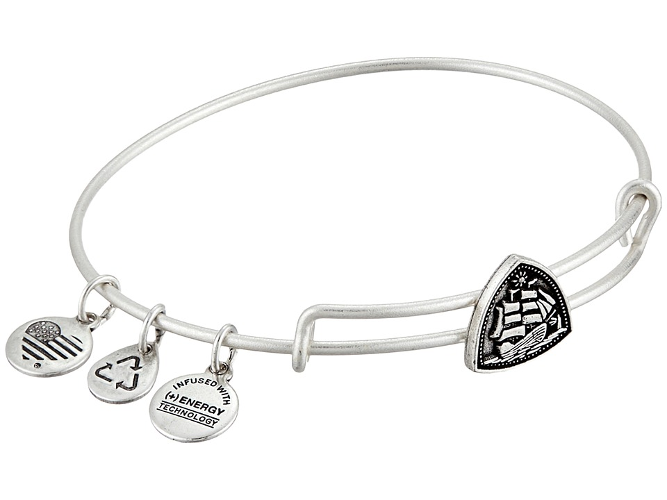 Alex and Ani - Seaside Slider Steady Vessel Expandable Wire Bangle (Rafaelian Silver Finish) Bracelet