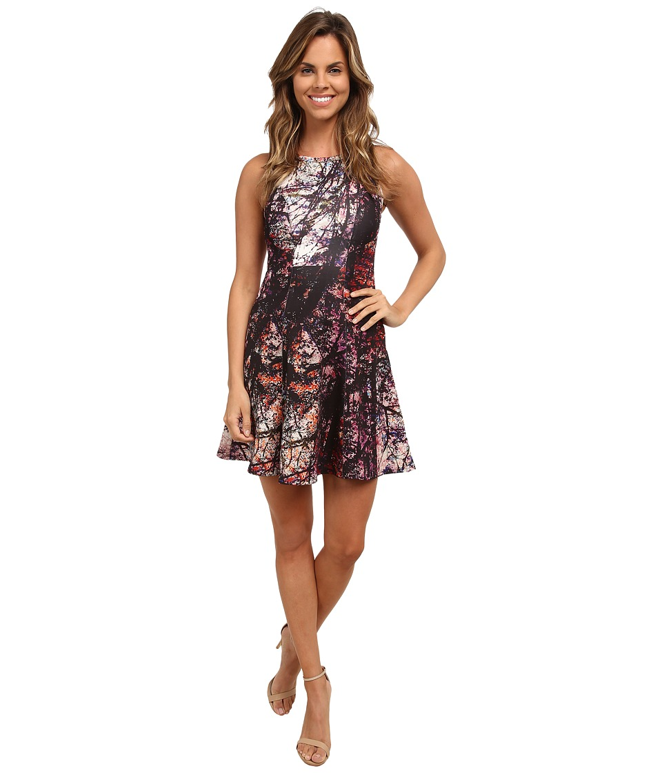 Karen Kane - Painted Forest Scuba Dress (Multicolor) Women