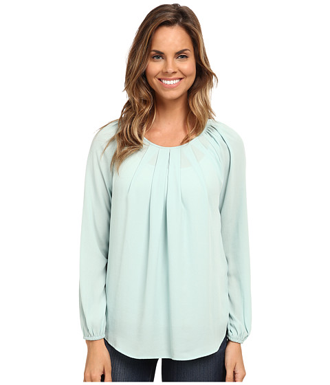 Karen Kane - Pleat Front Blouse (Mint) Women's Blouse
