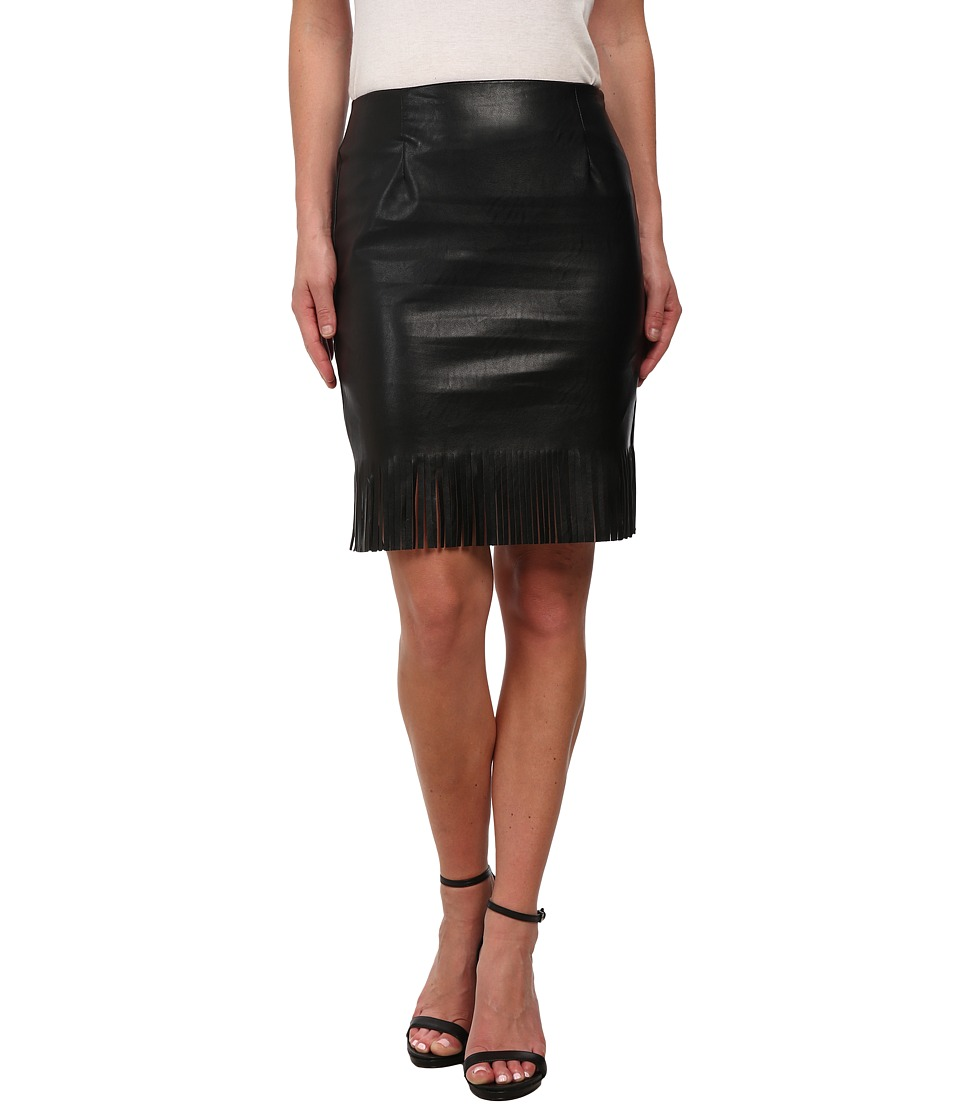 Karen Kane - Fringe Pencil Skirt (Black) Women's Skirt