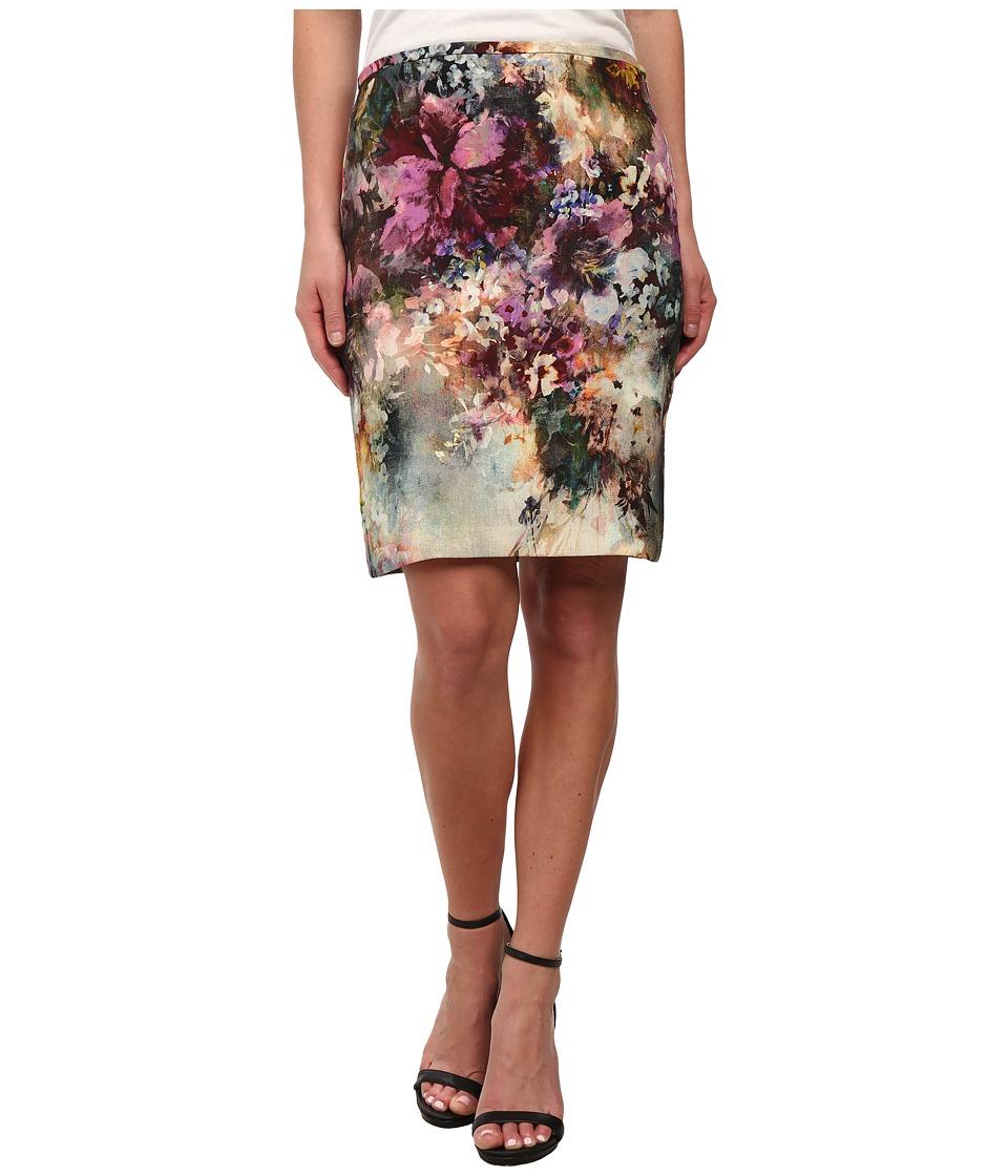 Karen Kane - Avant Garden Pencil Skirt (Print) Women's Skirt plus size,  plus size fashion plus size appare