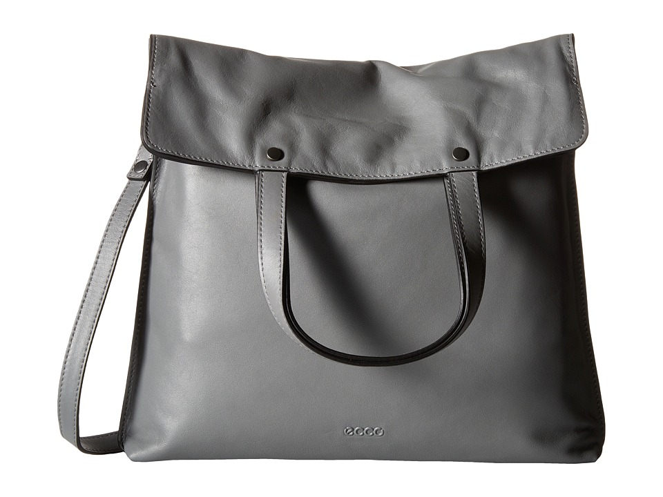 ECCO - Sculptured Folding Tote (Titanium) Tote Handbags