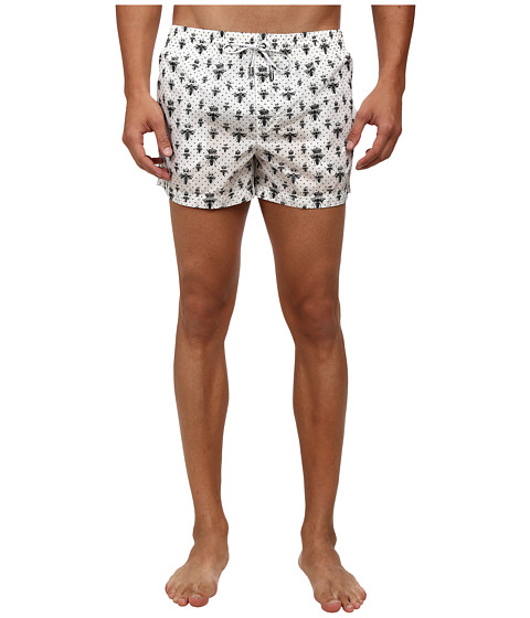Dolce & Gabbana - Bee Crown Printed Swim Shorts (Bee/Crown Print) Men