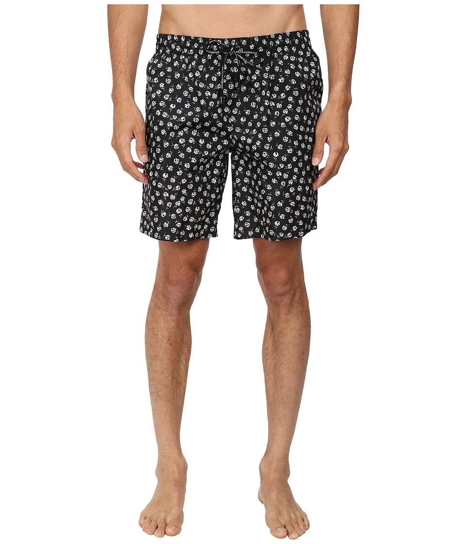 Dolce & Gabbana - Crown Printed Trunks (Crown Print) Men's Swimwear
