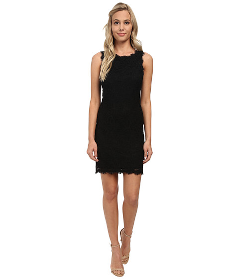 Alejandra Sky - Short Lace Sleeveless Dress (Black) Women's Dress
