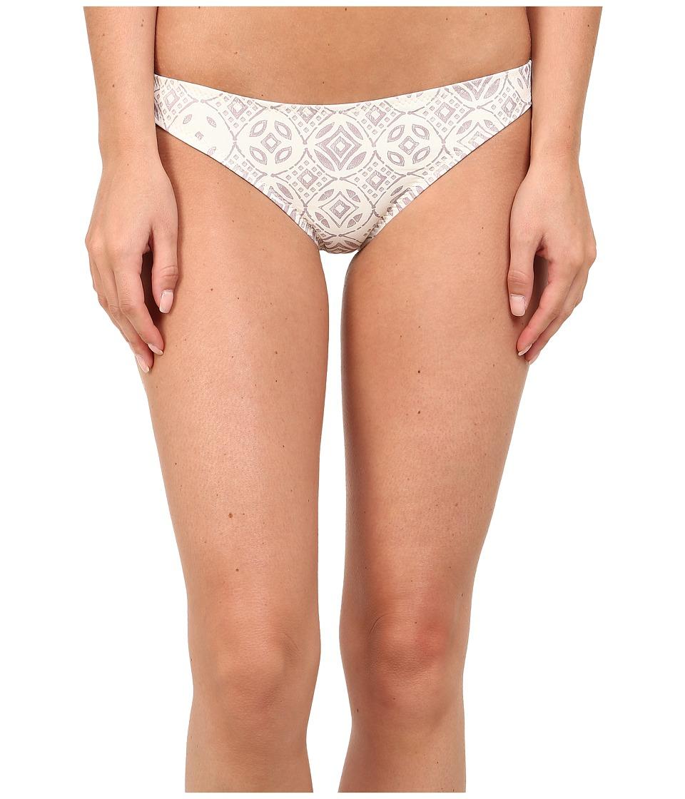 Eberjey Sandbar Valentina Bottom Ivory & Truffle Swimwear