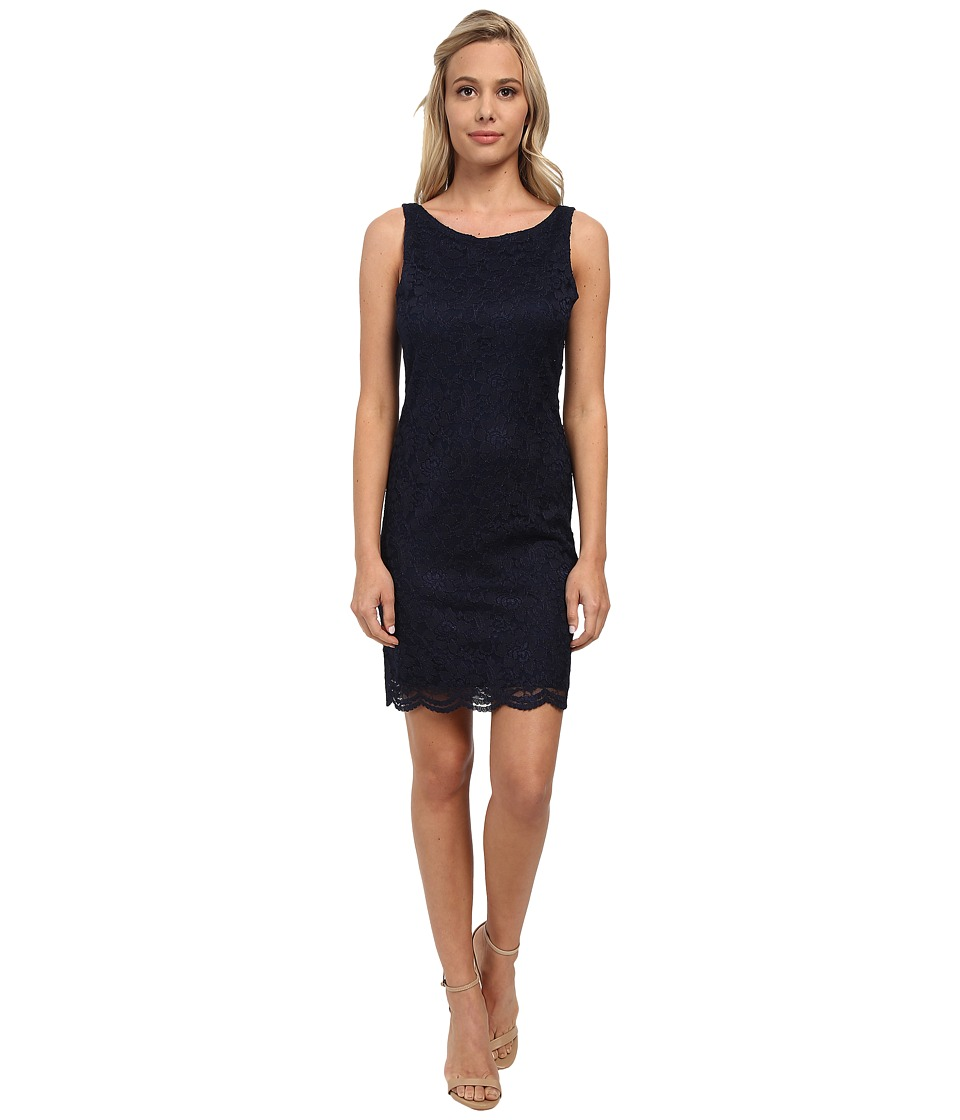 Alejandra Sky - Stretch Lace Sleeveless Dress (Navy) Women