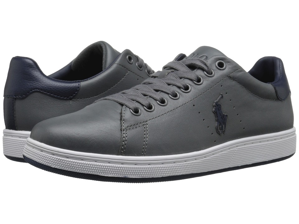 Polo Ralph Lauren - Whickham (Charcoal Grey/Newport Navy Tumbled Leather) Men