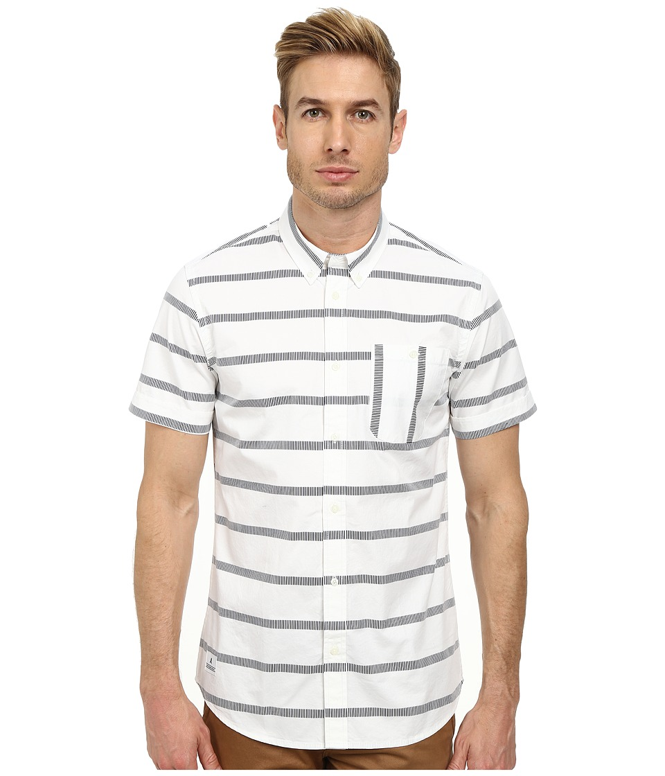 WeSC - Avon Short Sleeve Woven (White) Men's Short Sleeve Button Up