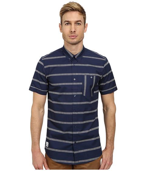 WeSC - Avon Short Sleeve Woven (Blue Iris) Men's Short Sleeve Button Up