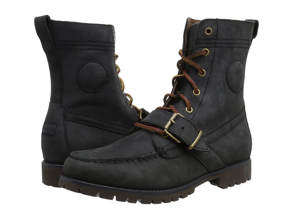 Polo Ralph Lauren - Ranger (Dark Slate Silky Nubuck) Men's Lace-up Boots