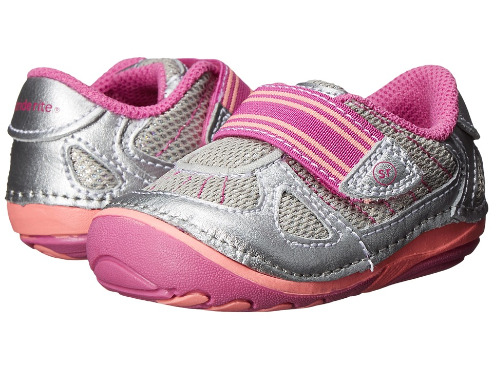 Stride Rite - SRT SM Medley (Infant/Toddler) (Silver) Girls Shoes