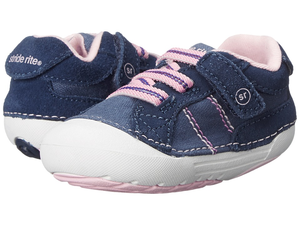 Stride Rite - SRT SM Skyler (Infant/Toddler) (Navy) Girls Shoes