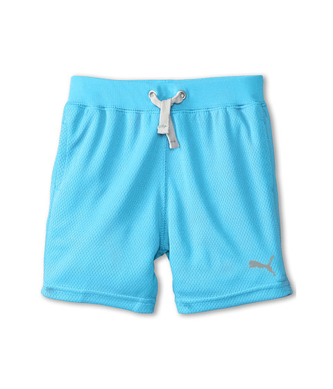 Puma Kids - Core Shorts (Toddler) (Aqua Blue) Boy's Shorts