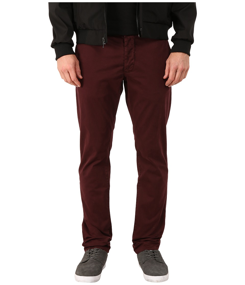 French Connection - Machine Gun Laundered (Bordeaux) Men's Casual Pants