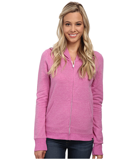 Hurley - Solid Slim Fleece Zip Hoodie (Fuchsia Flash) Women's Sweatshirt