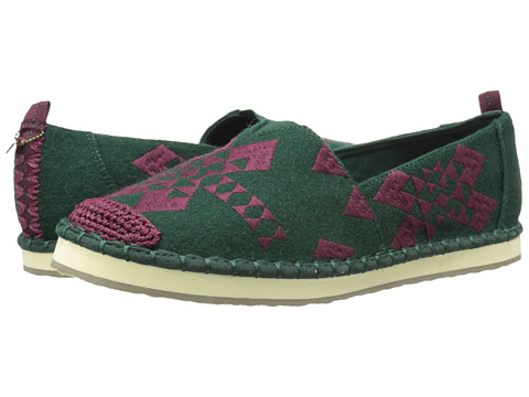 The Sak - Echo (Green Felt) Women's Flat Shoes