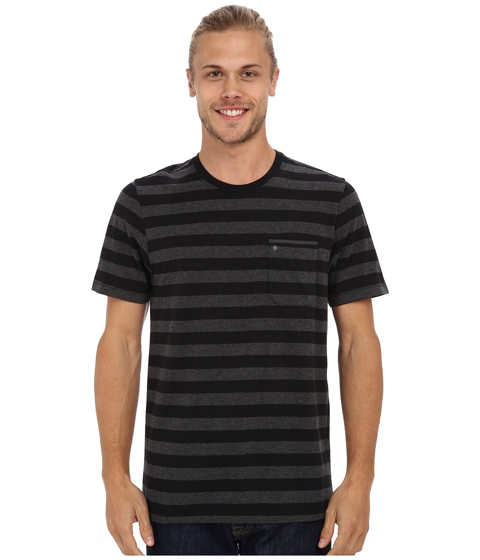 Hurley Captain Knit Crew T-Shirt (Black) Men