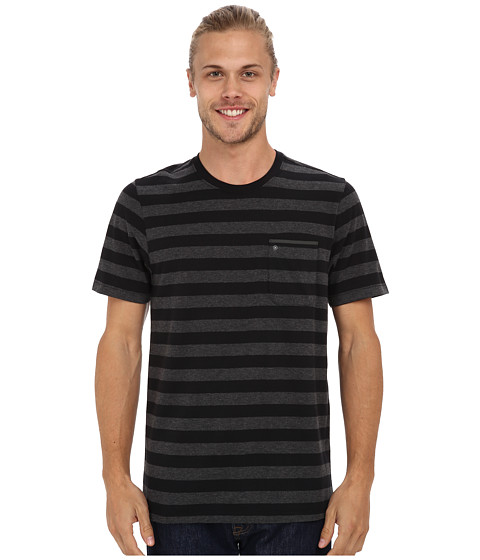 Hurley - Captain Knit Crew T-Shirt (Black) Men's T Shirt
