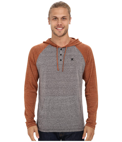 Hurley - Point Raglan T-Shirt (Charcoal Heather) Men's T Shirt
