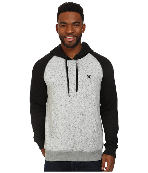 Hurley - Retreat Fleece Pullover (Grey Mist) Men's Clothing