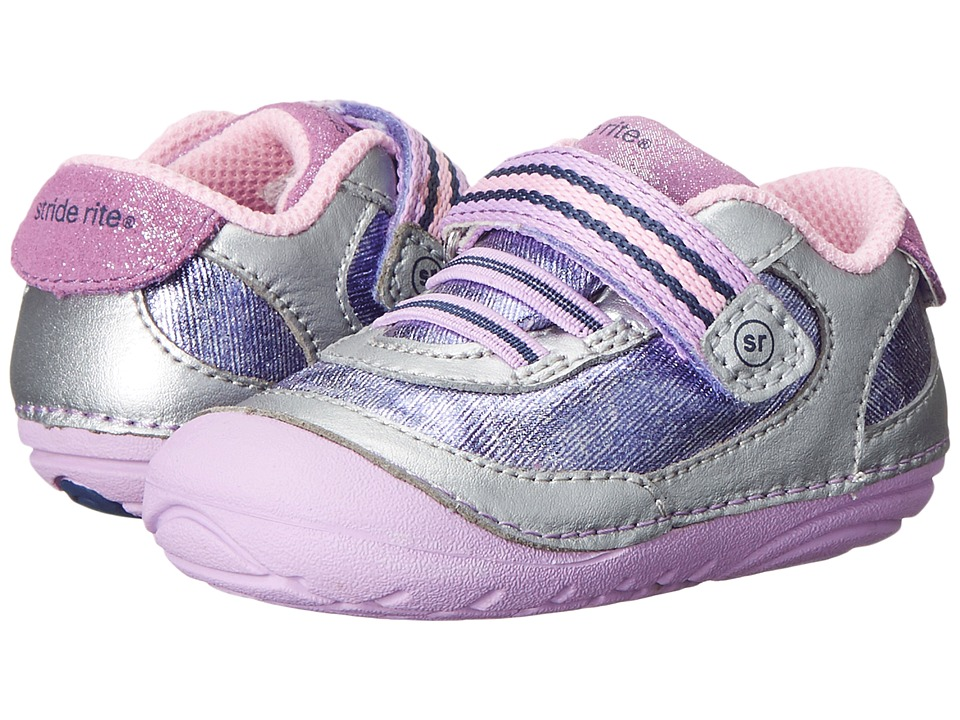 Stride Rite - Jazzy (Infant/Toddler) (Silver/Purple) Girls Shoes