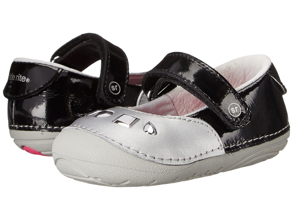 Stride Rite - Jordona (Infant/Toddler) (Silver/Black) Girls Shoes