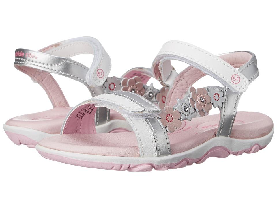 Stride Rite - SRT PS Neila (Toddler/Little Kid) (White/Silver) Girls Shoes