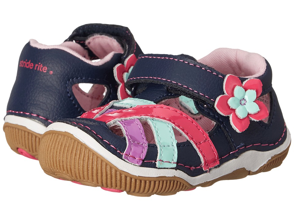Stride Rite - SRT Juno (Toddler) (Navy) Girls Shoes