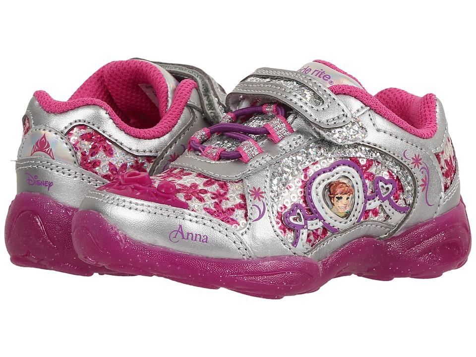 Stride Rite - Disney Frozen Athletic A/C (Toddler) (Dark Pink) Girls Shoes