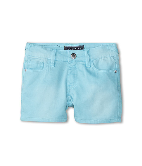 Toobydoo - Aqua Summer Jeans Shorts (Toddler/Little Kids/Big Kids) (Aqua) Girl
