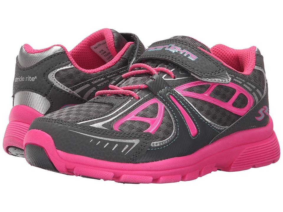 Stride Rite - Racer Lights Evolution (Little Kid) (Grey/Pink) Girls Shoes