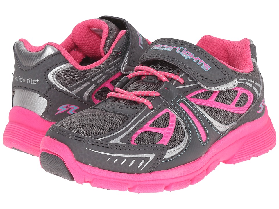Stride Rite - Racer Lights Acceleration (Toddler/Little Kid) (Grey/Pink) Girls Shoes