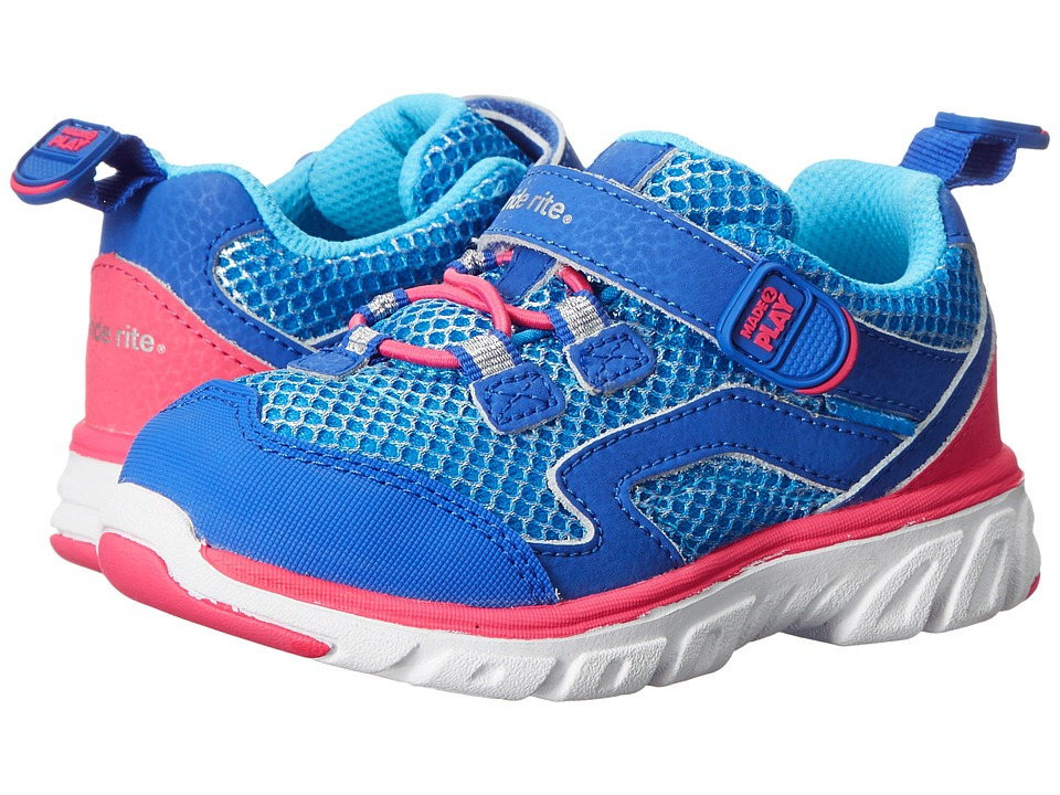 Stride Rite - M2P Myra (Toddler/Little Kid) (Blue/Pink) Girl's Shoes