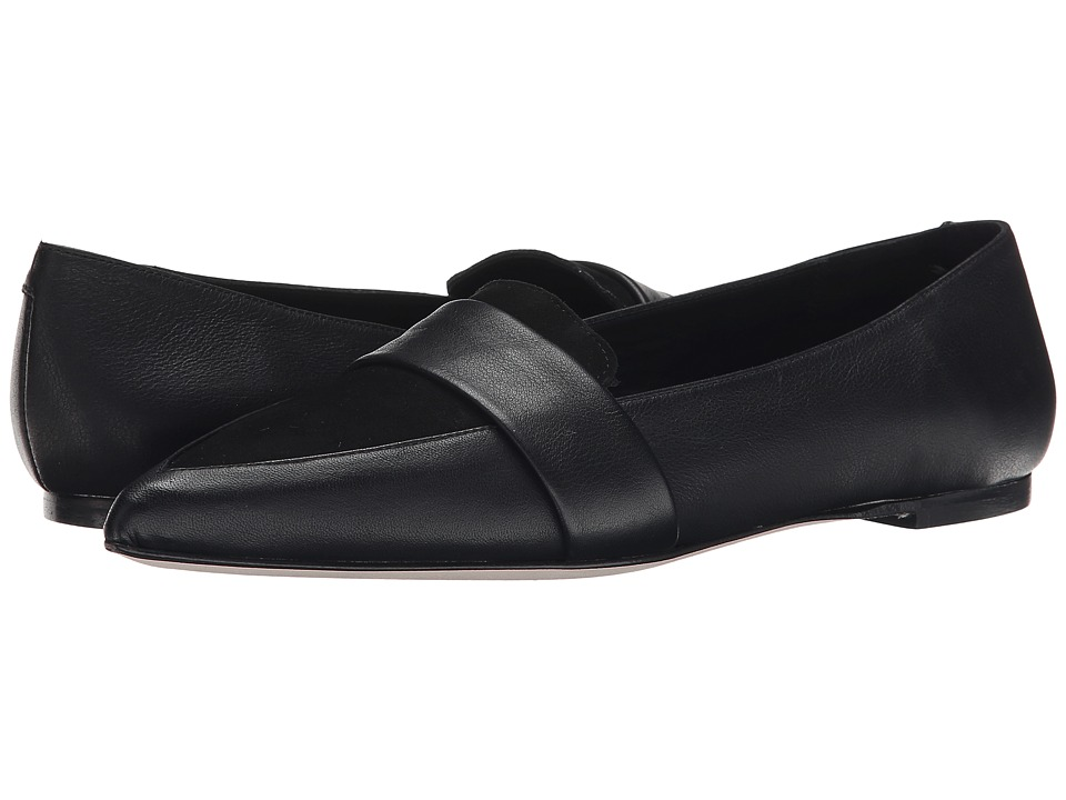 Massimo Matteo - Pointy Toe Flat (Black) Women