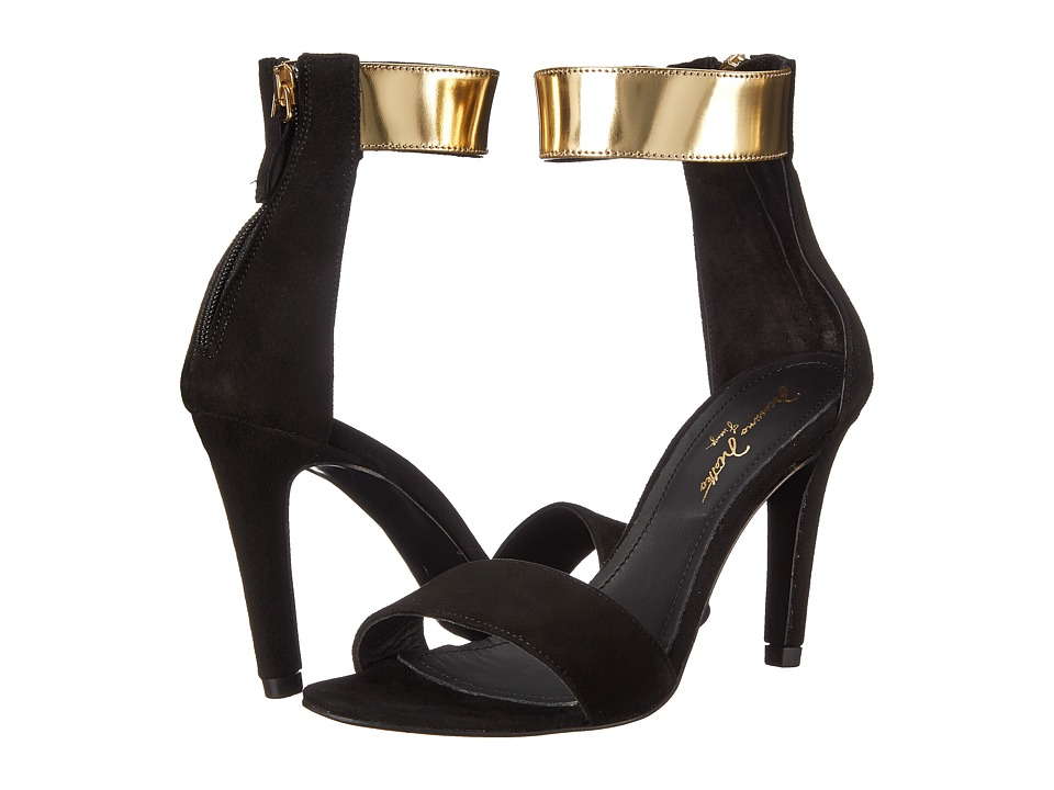 Massimo Matteo - Pump w/ Ankle Strap (Black/Gold) High Heels